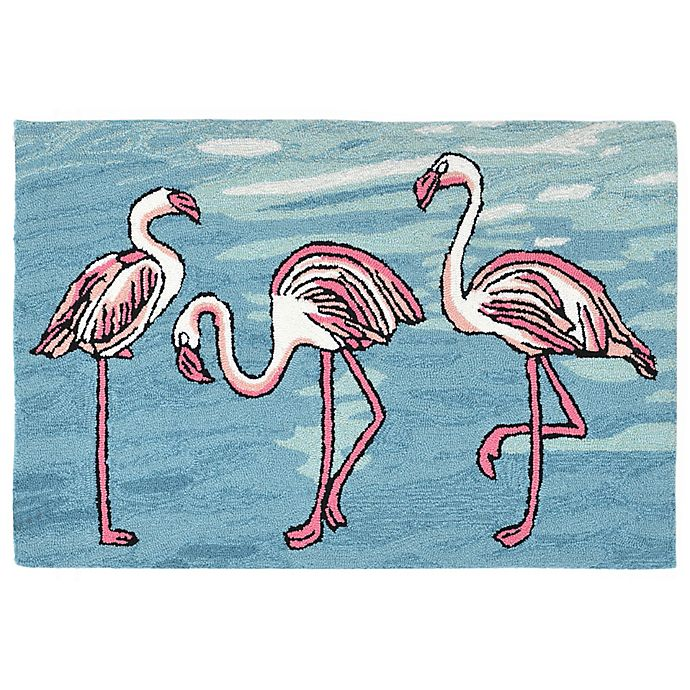 Alternate image 1 for Liora Manne Flamingo 3-Foot 6-Inch x 5-Foot 6-Inch Indoor/Outdoor Area Rug in Blue