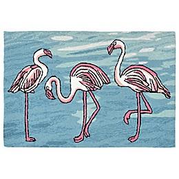 Liora Manne Flamingo Indoor/Outdoor Rug in Blue