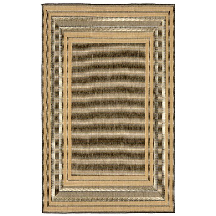 Alternate image 1 for Liora Manne Terrace 3-Foot 3-Inch x 4-Foot 11-Inch Indoor/Outdoor Accent Rug in Slate