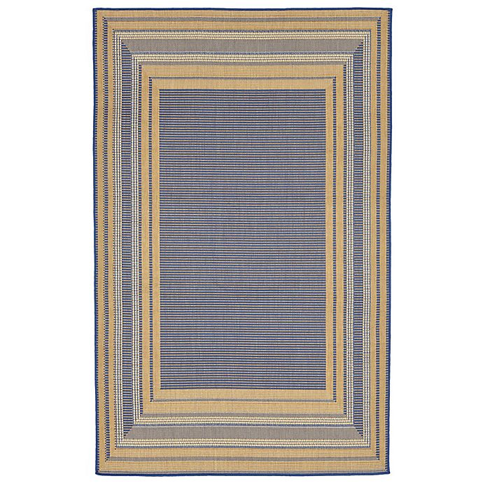 Alternate image 1 for Liora Manne Terrace 3-Foot 3-Inch x 4-Foot 11-Inch Indoor/Outdoor Accent Rug in Blue