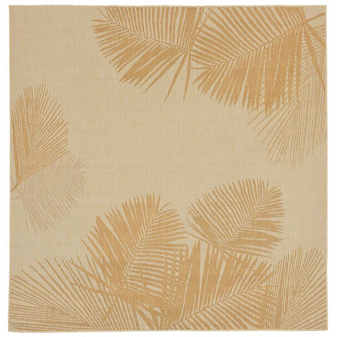 Alternate image 1 for Liora Manne Terrace Palms 7-Foot 10-Inch Square Area Rug in Sand