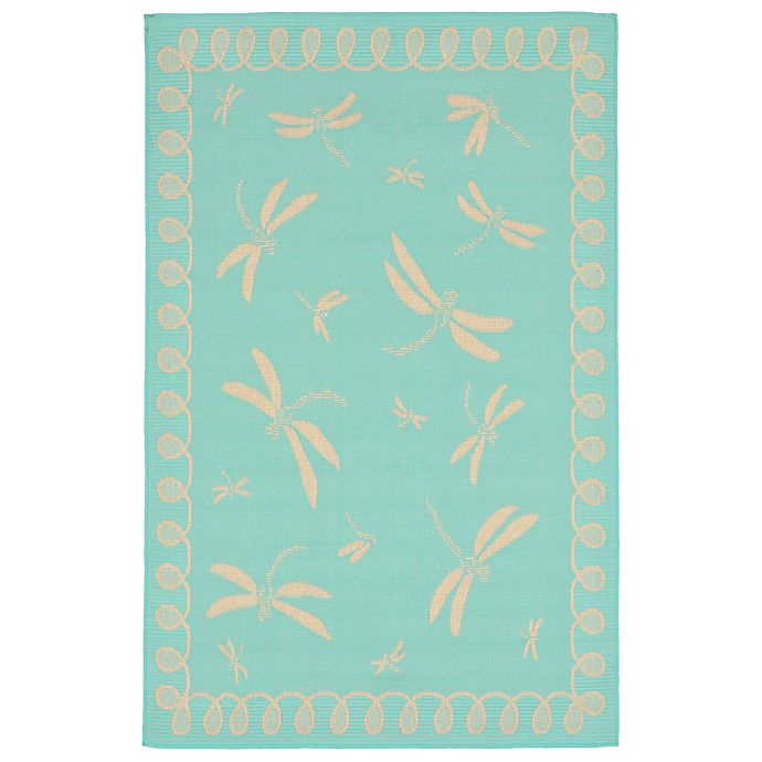 Alternate image 1 for Liora Manne Dragonfly 3-Foot 3-Inch x 4-Foot 11-Inch Indoor/Outdoor Area Rug in Blue