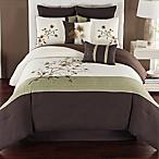Camisha 8-Piece Queen Comforter Set in Green