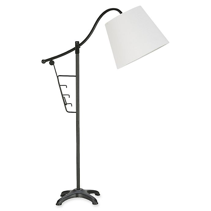 Alternate image 1 for INK+IVY Vienna Table Lamp in Bronze with Fabric Shade with CFL Bulb