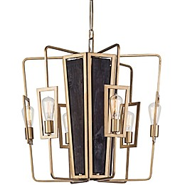 Varaluz Madeira 6-Light Chandelier in Rustic Gold