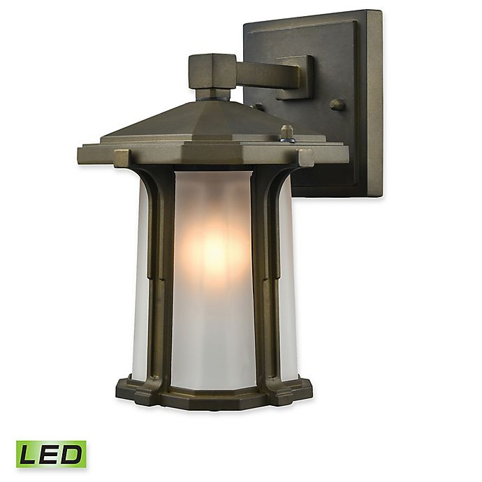 Alternate image 1 for Elk Lighting Brighton 1-Light LED Outdoor Wall Sconce in Smoked Bronze