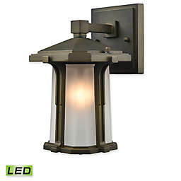 Elk Lighting Brighton 1-Light LED Outdoor Wall Sconce in Smoked Bronze