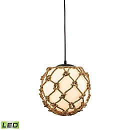 ELK Lighting Coastal Inlet 1-Light LED Ceiling-Mount Pendant in Oil Rubbed Bronze