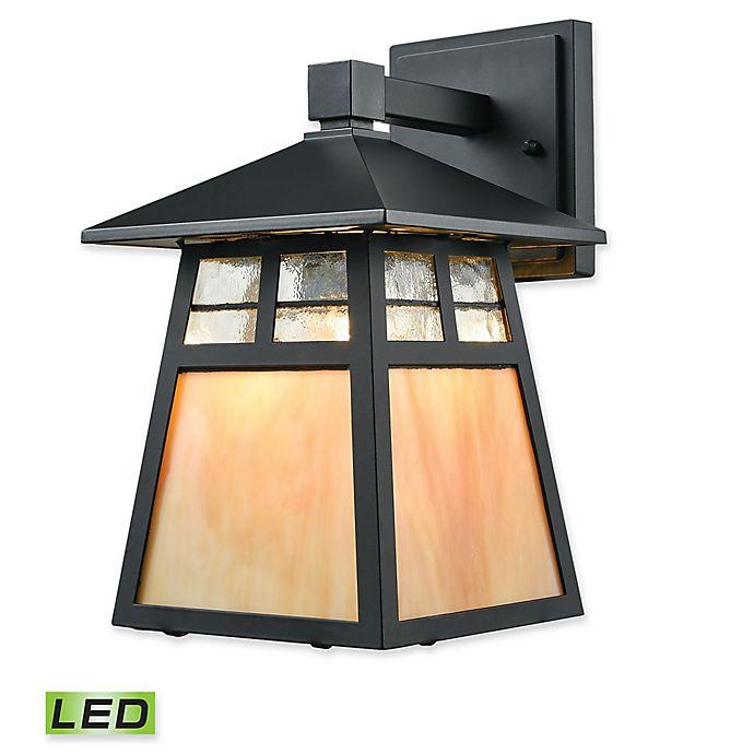 Alternate image 1 for Elk Lighting Cottage 1-Light LED Outdoor Wall Sconce in Black