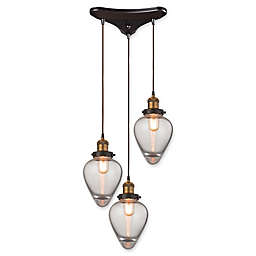 ELK Lighting Bartram 3-Light Pendant in Oil Rubbed Bronze