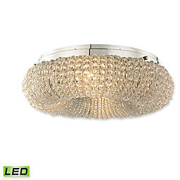 Elk Lighting Crystal Ring 4-Light Semi-Flush Mount Ceiling Fixture in Chrome with LED Bulbs