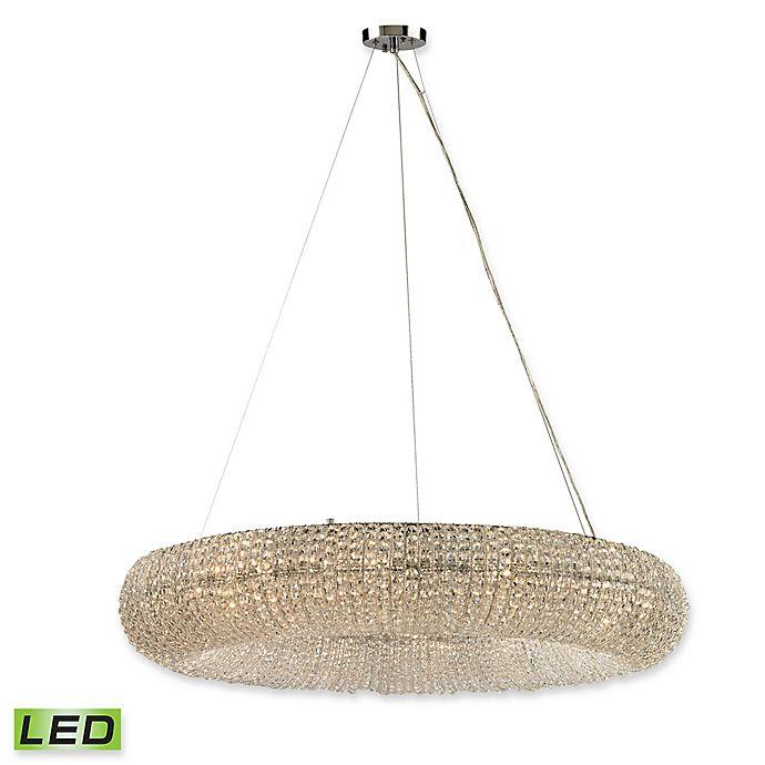 Alternate image 1 for Elk Lighting Crystal Ring 12-Light Chandelier in Polished Chrome with LED Bulbs