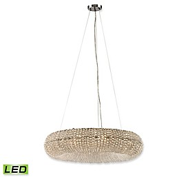 Elk Lighting Crystal Ring Chandelier in Polished Chrome with LED Bulbs