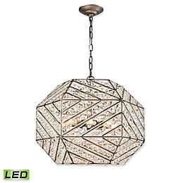 Elk Lighting Constructs 8-Light LED Chandelier in Zinc