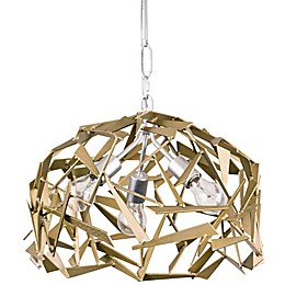 Varaluz Bermuda 3-Light Pendant Light in Silver/champagne