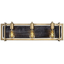 Varaluz Madeira 3-Light Vanity Light in Rustic Gold