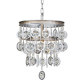 Varaluz® Charmed Chandelier in Silver with Champagne Mist Accents