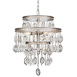 Varaluz® Charmed 7-Light Chandelier in Silver with Champagne Mist Accents
