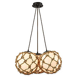 ELK Lighting Coastal Inlet 1-Light LED Ceiling-Mount Pendant in Oil Rubbed Bronze