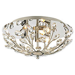 Elk Lighting Crystique Flush Mount Ceiling Light in Polished Chrome