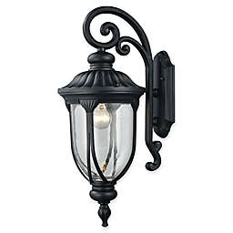 Elk Lighting Derry Hill Outdoor Wall Sconce in Black