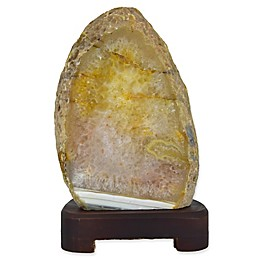 Nature's Artifacts Natural Agate Table Lamp in Natural Stone