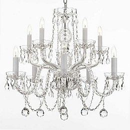 Gallery 10-Light Ceiling Mount Swarovski Crystal Trimmed Chandelier