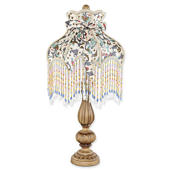 Alternate image 1 for River Of Goods Victorian Rustic Table Lamp in Ivory with Fabric Shade