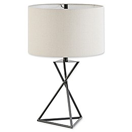 Madison Park Simone Table Lamp with CFL Bulb in Black