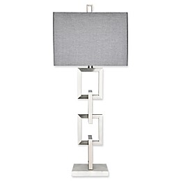 Madison Park Boulevard Table Lamp with CFL Bulb in Silver