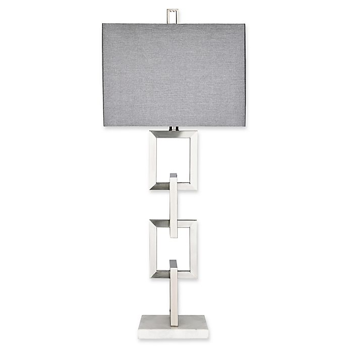Alternate image 1 for Madison Park Boulevard Table Lamp with CFL Bulb in Silver