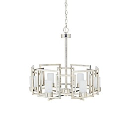 Madison Park Broadway 6-Light Chandelier in Silver