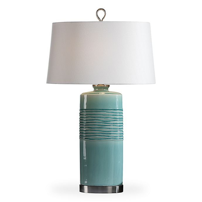 Alternate image 1 for Uttermost Rila Table Lamp in Distressed Teal
