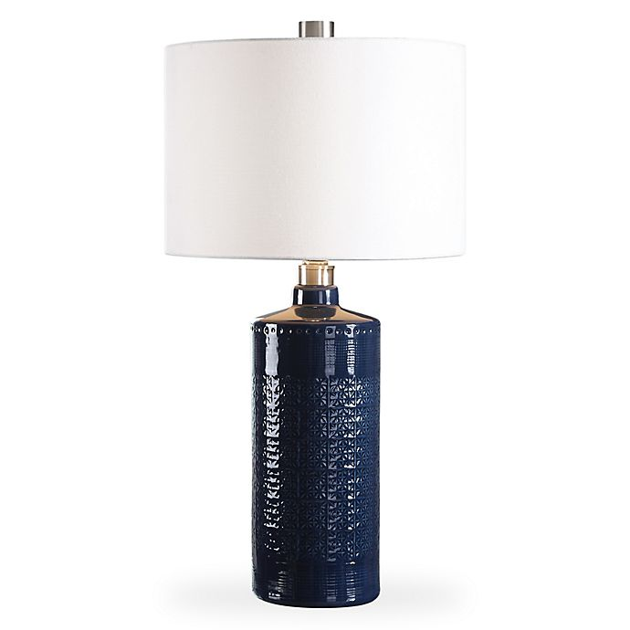 Alternate image 1 for Uttermost Thalia Table Lamp in Royal Blue