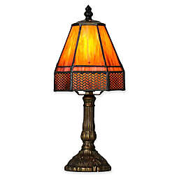 River of Goods Lattice Table Lamp in Purple/Orange