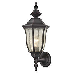 Bennet 1- Light Outdoor Wall Sconce in Black with Glass Shade