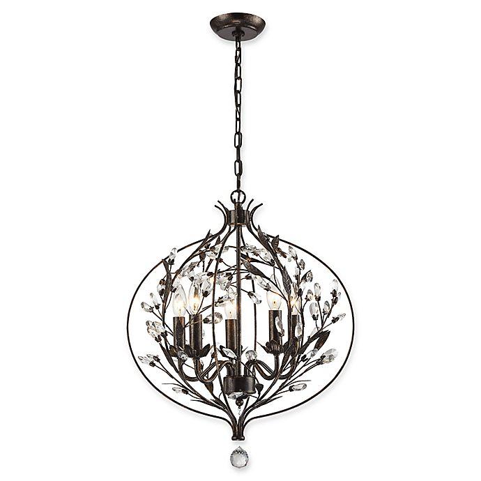 Lighting Warehouse Hendrik Potgieter: Circeo 5-Light Chandelier In Deep Rust
