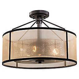 Elk Lighting Diffusion 3-Light Semi-Flush Mount Fixture in Oil Rubbed Bronze