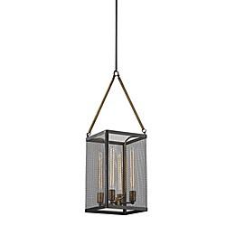 ELK Lighting Donovan 4-Light Ceiling-Mount Chandelier in Black/Antique Gold