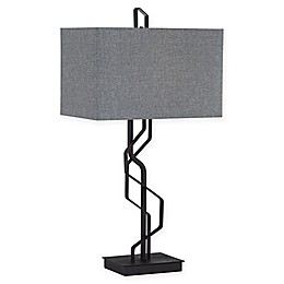 Kathy Ireland® Studio Metal Flat Bar Table Lamp in Black