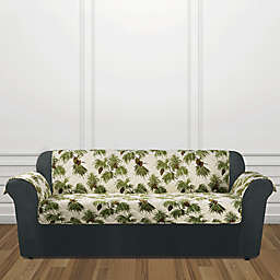 Sure Fit® Holiday Pinecone Sofa Cover in Ivory