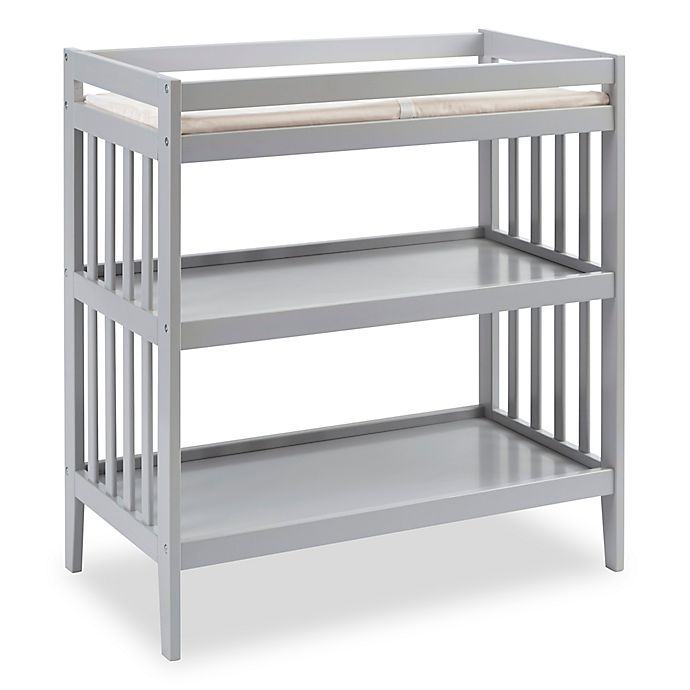 Alternate image 1 for Westwood Design Reese Changing Table with Pad in Fog Grey