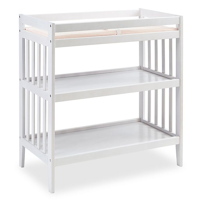 Alternate image 1 for Westwood Design Reese Changing Table with Pad in White
