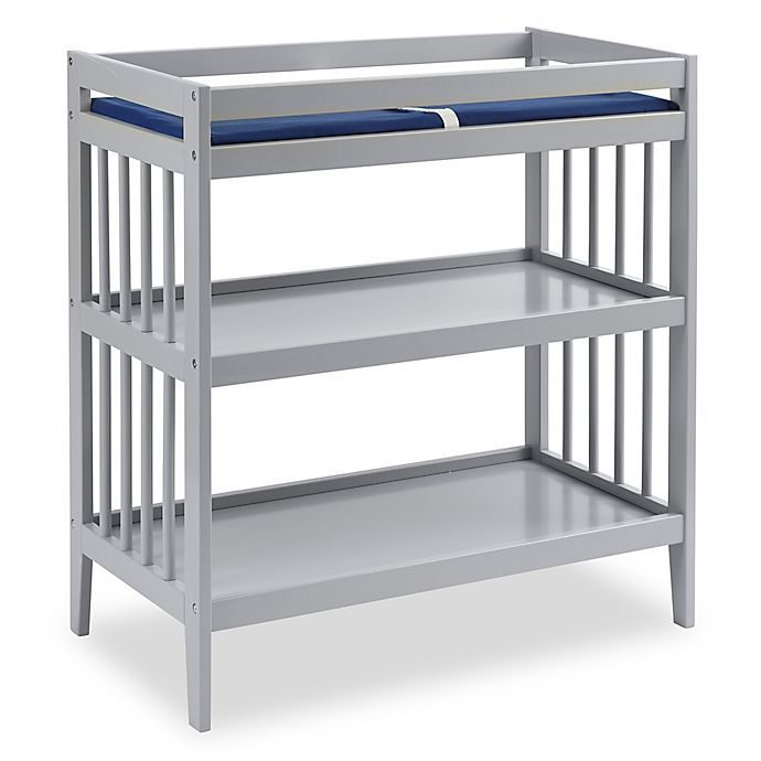 Alternate image 1 for Westwood Design Echo Changing Table with Pad in Fog Grey