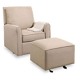 Abbyson Living Silo Swivel Glider and Ottoman Set