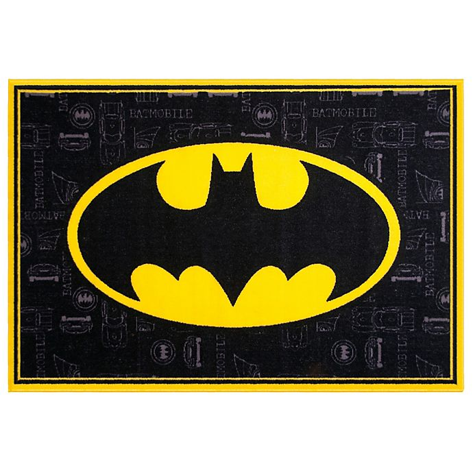 Wildkin 3 Foot Inch X 5 Batman Rug In Black