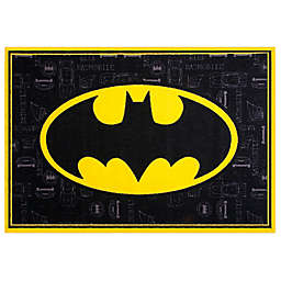 Wildkin 3-Foot 3-Inch x 5-Foot Batman Rug in Black