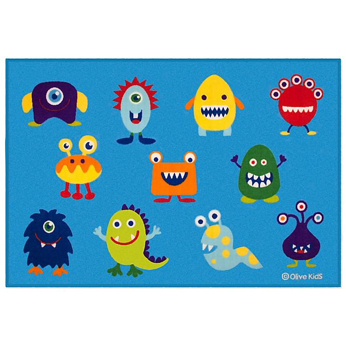 Alternate image 1 for Olive Kids 3-Foot 3-Inch x 5-Foot Monsters Rug in Blue