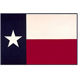 State of Mind 3-Foot 3-Inch x 5-Foot Texas State Flag Rug in Blue