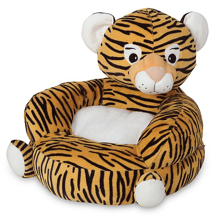 Alternate image 1 for Trend Lab Children's Plush Tiger Character Chair in Orange